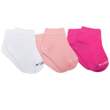 LK042.135-01_A-moda-bebe-menina-acessorios-tripack-kit-3-meias-branca-rosa-pink-leke-no-bebefacil-loja-de-roupas-enxoval-e-acessorios-para-bebes
