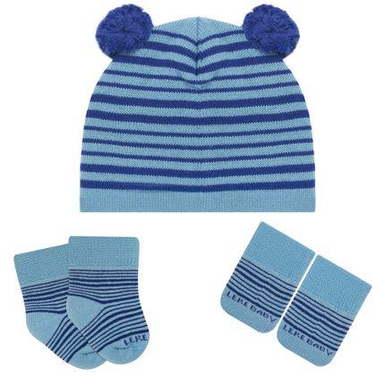 LK402.435_A--moda-menino-acessorios-kit-touca-luva-meinha-pom-pom-azul-leke-no-Bebefacil-loja-de-roupas-enxoval-e-acessorios-para-bebes
