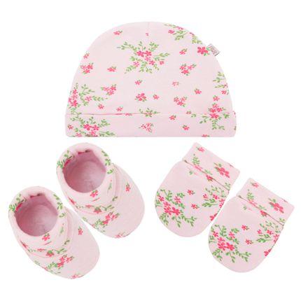 PL65928_Aa-moda-bebe-menina-acessorios-kit-touca-luva-sapatinho-em-suedine-florzinhas-Pingo-Lele-no-Bebefacil-loja-de-roupas-enxoval-e-acessorios-para-bebes