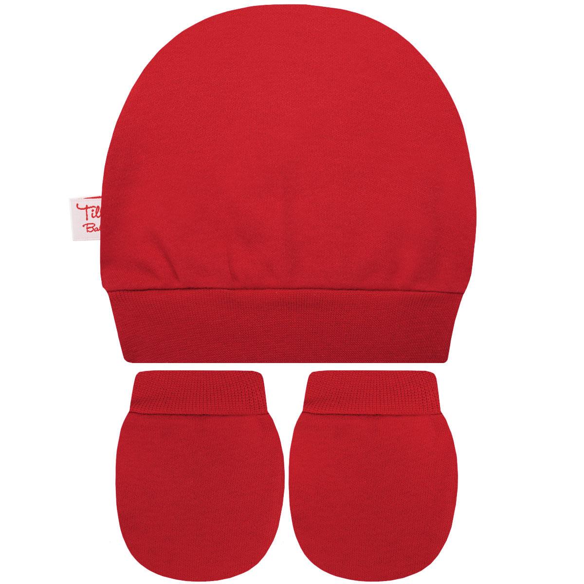 85c678857cc12 Kit Touca e Luva para bebe em suedine Vermelha Tilly Baby no Bebefacil a  sua loja de roupas e enxoval para bebês - bebefacil