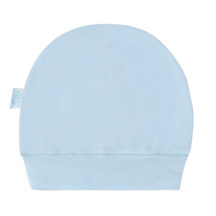 Touca para bebe em suedine Azul - Tilly Baby no Bebefacil a sua loja ... b36054b4551