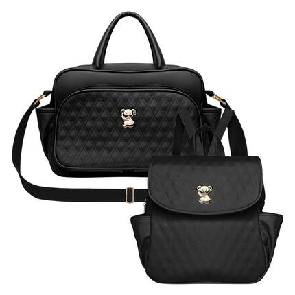 VNK9045---MK9045-Bolsa-Maternidade---Mochila-Golden-Koala-Preta---Classic-for-Baby-Bags