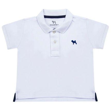 CY21156.101-A-moda-bebe-menino-camiseta-polo-manga-curta-branca-Charpey