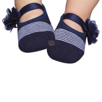 PK7033-MR_A-moda-bebe-menina-acessorios-meia-sapatilha-flor-marinho-no-bebefacil-loja-de-roupas-enxoval-e-acessorios-para-bebes
