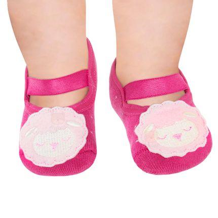 PK7062-CA_A-moda-bebe-menina-acessorios-meia-sapatilha-laco-pink-ovelhinha-no-bebefacil-loja-de-roupas-enxoval-e-acessorios-para-bebes