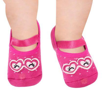PK7062-PK_A-moda-bebe-menina-acessorios-meia-sapatilha-laco-pink-piscadinha-no-bebefacil-loja-de-roupas-enxoval-e-acessorios-para-bebes
