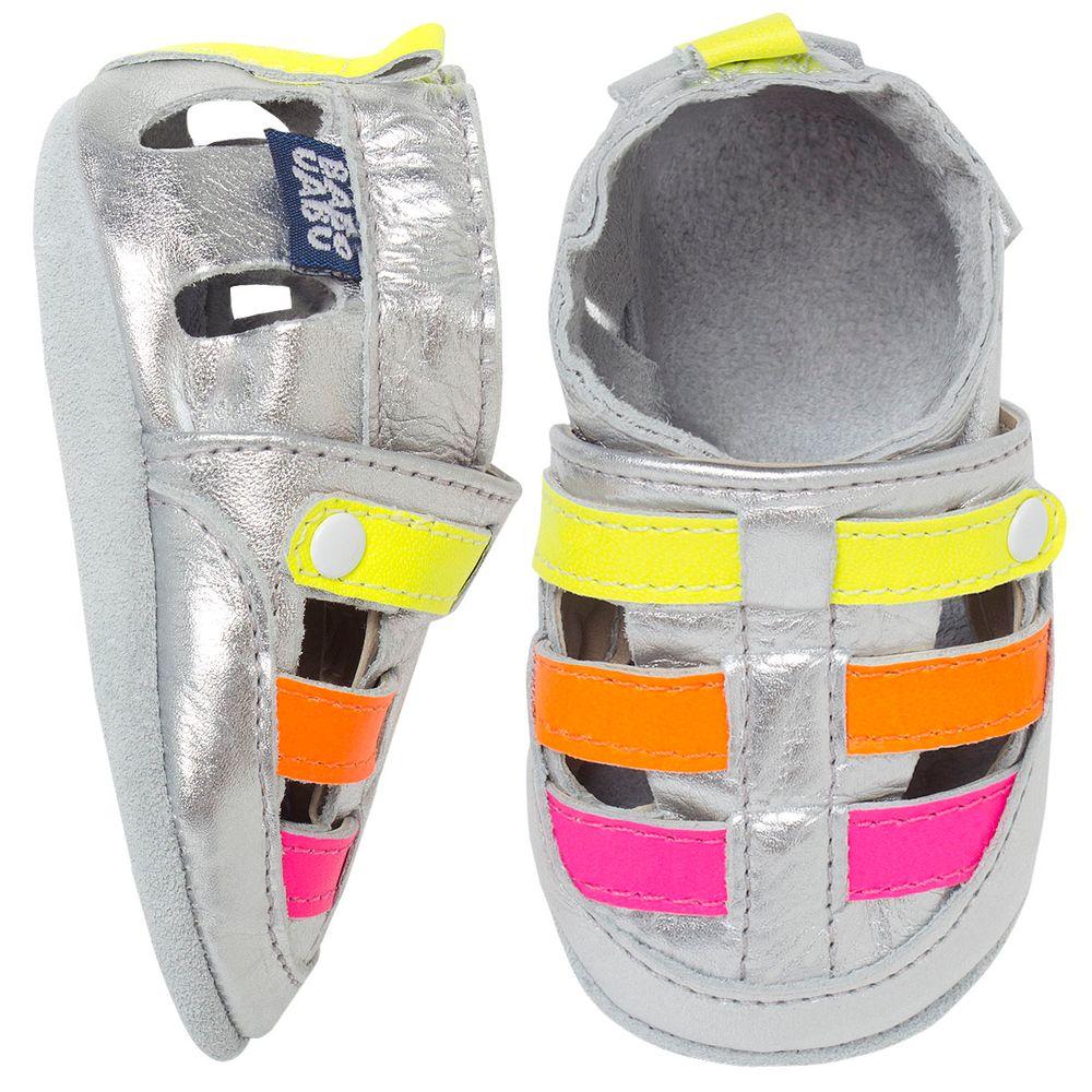 BABO67_A-sapatinho-bebe-menina-sandalia-franciscana-metalizada-neon-babo-uabu-no-bebefacil-loja-de-roupas-enxoval-e-acessorios-para-bebes