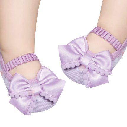PK6939D-LI_A-moda-bebe-menina-acessorios-meia--sapatilha-geometric-laco-pompom-lilas-puket-no-bebefacil-loja-de-roupas-enxoval-e-acessorios-para-bebes