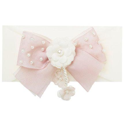 09950026542_A2-moda-bebe-menina-faixa-meia-laco-flor-e-perolas-marfim-rosa-roana-no-bebefacil-loja-de-roupas-enxoval-e-acessorios-para-bebes