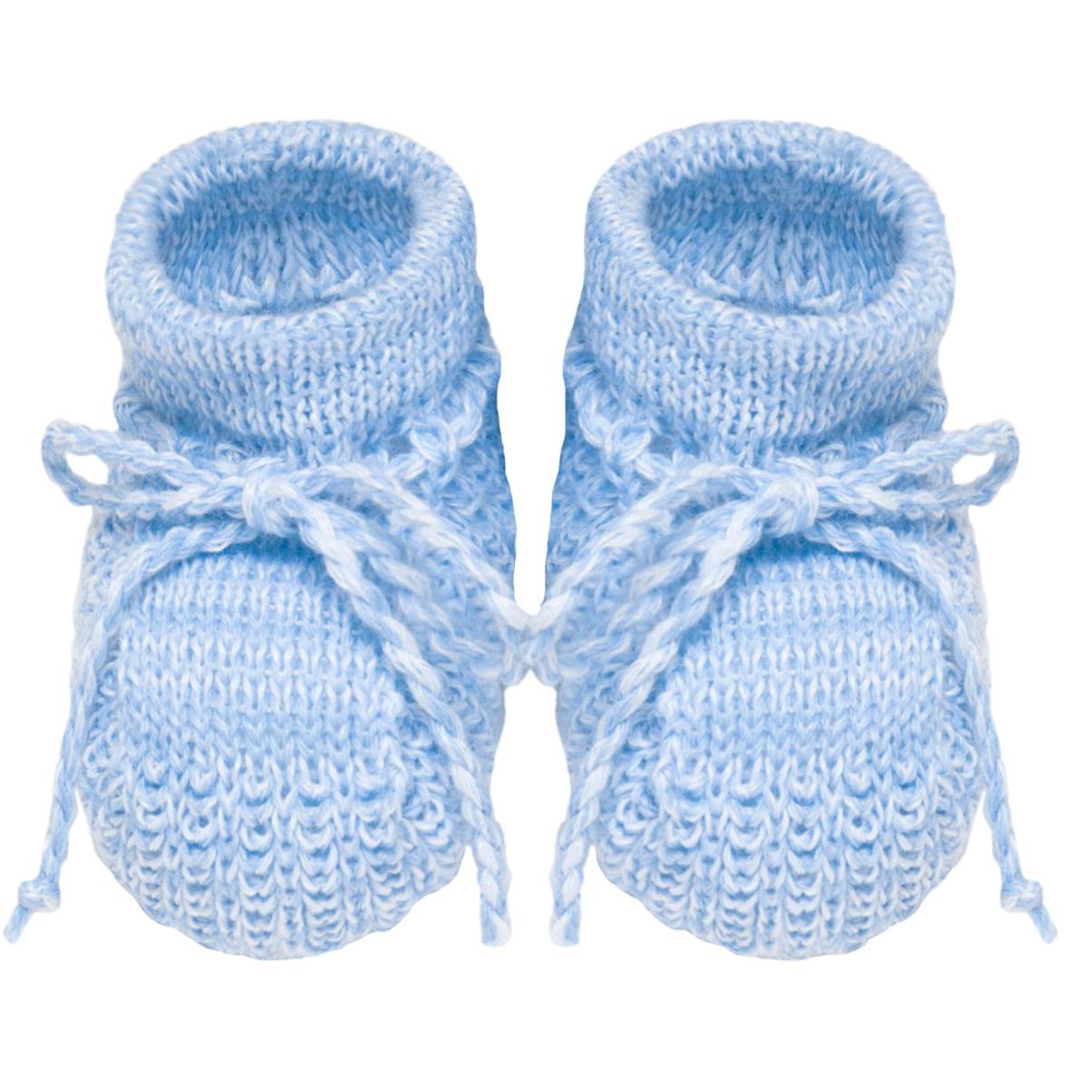 aabae2d4f Sapatinho para bebê em tricot Azul - Roana no bebefacil loja de roupas  enxoval e acessorios para bebes - bebefacil