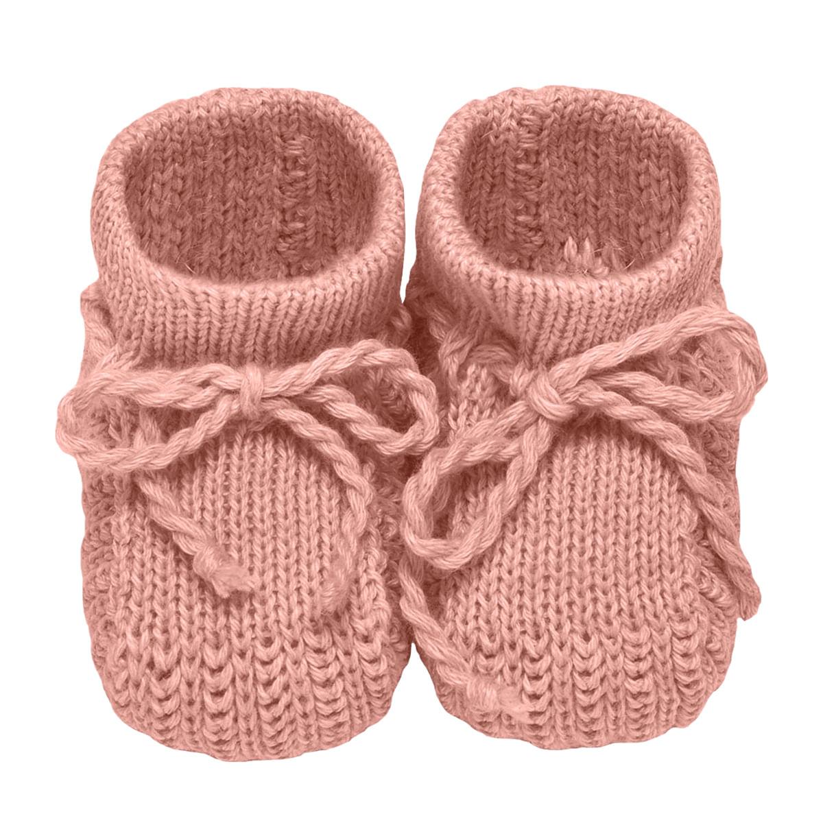 cb9fe76b5 Sapatinho para bebê em tricot Rosé - Roana no bebefacil loja de roupas  enxoval e acessorios para bebes - bebefacil