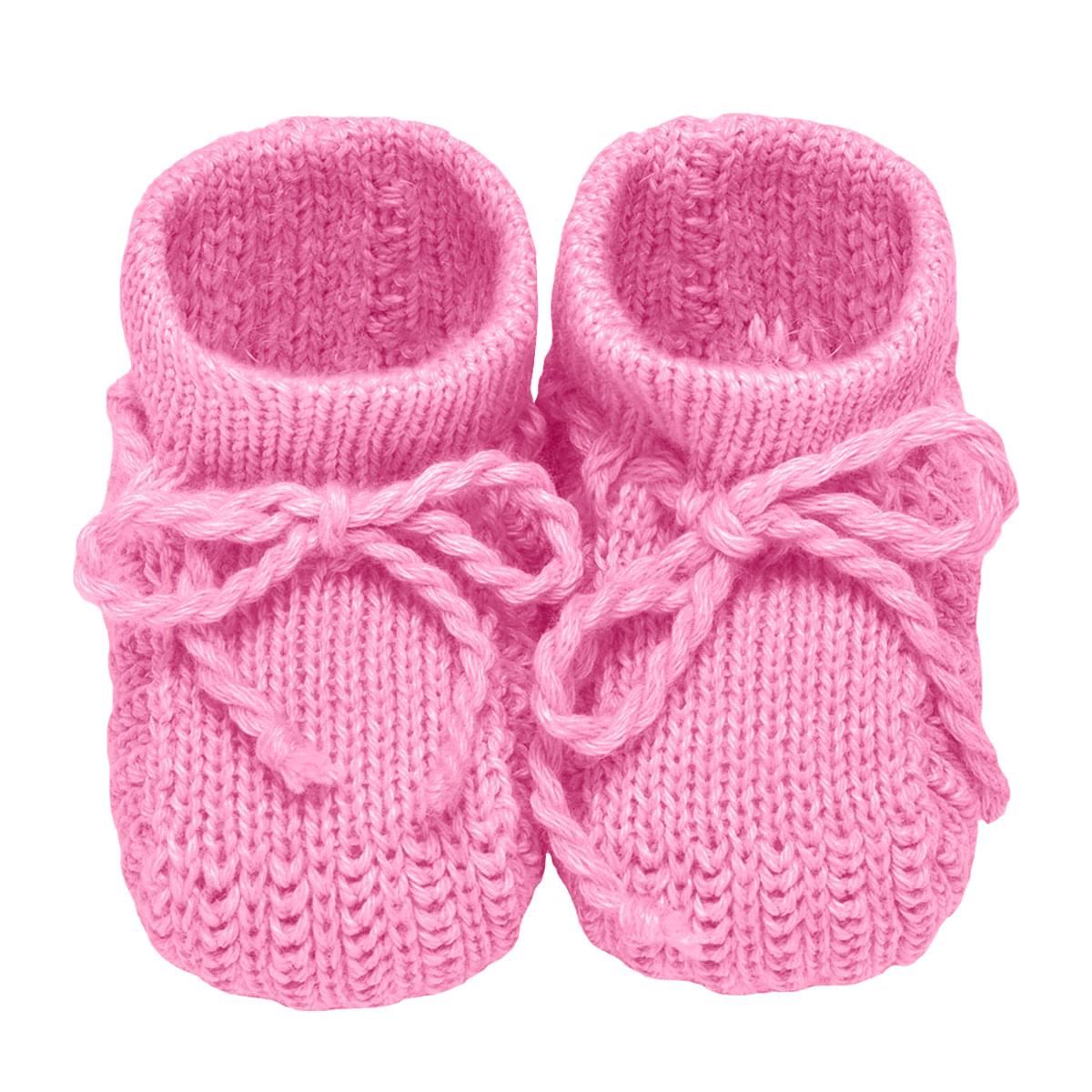 f0acfa91a Sapatinho para bebê em tricot Rosa - Roana no bebefacil loja de roupas  enxoval e acessorios para bebes - bebefacil