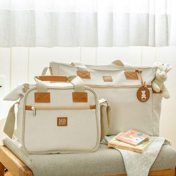 MB51MBQ371.05-C-Bolsa-Sacola-para-bebe-Quadriculado-Marfim---MB-Baby