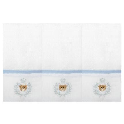 2186073022-A-enxoval-e-maternidade-bebe-menino-kit-3-paninhos-fraldinha-de-boca-em-fralda-ursinho-azul-roana-no-bebefacil-loja-de-roupas-enxoval-e-acessorios-para-bebes