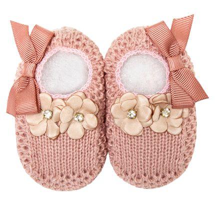 01436013032_A-moda-bebe-menina-sapatinho-tricot-flores-laco-rose-roana-no-bebefacil-loja-de-roupas-enxoval-e-acessorios-para-bebes