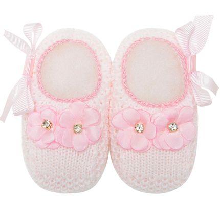 01436013046_A-moda-bebe-menina-sapatinho-tricot-flores-laco-rosa-roana-no-bebefacil-loja-de-roupas-enxoval-e-acessorios-para-bebes