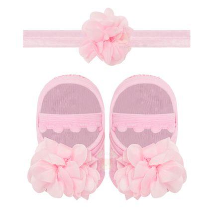 PK6934L-RB_A-moda-bebe-menina-acessorios-faixa-de-cabelo-meia-sapatilha-flor-pom-pom-rosa-puket-no-bebefacil-loja-de-roupas-enxoval-e-acessorios-para-bebes