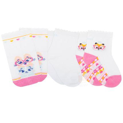PK70845-COR_A-moda-bebe-menina-meia-tripack-raposinha-puket-no-bebefacil-loja-de-roupas-enxoval-e-acessorios-para-bebes