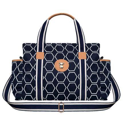 BGMS9043-A-Bolsa-Maternidade-para-bebe-Albany-Geometric-M-em-sarja-Marinho---Classic-for-Baby-Bags