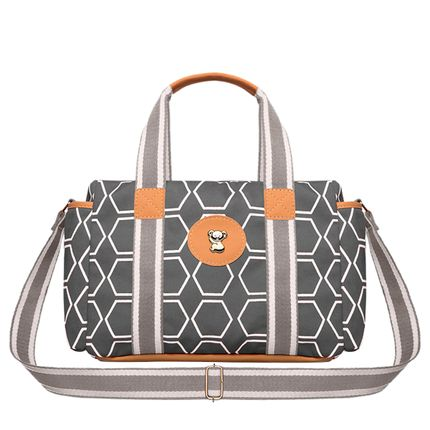 BGPS525-A-Bolsa-Termica-para-bebe-Geometric-P-em-sarja-Chumbo---Classic-for-Baby-Bags