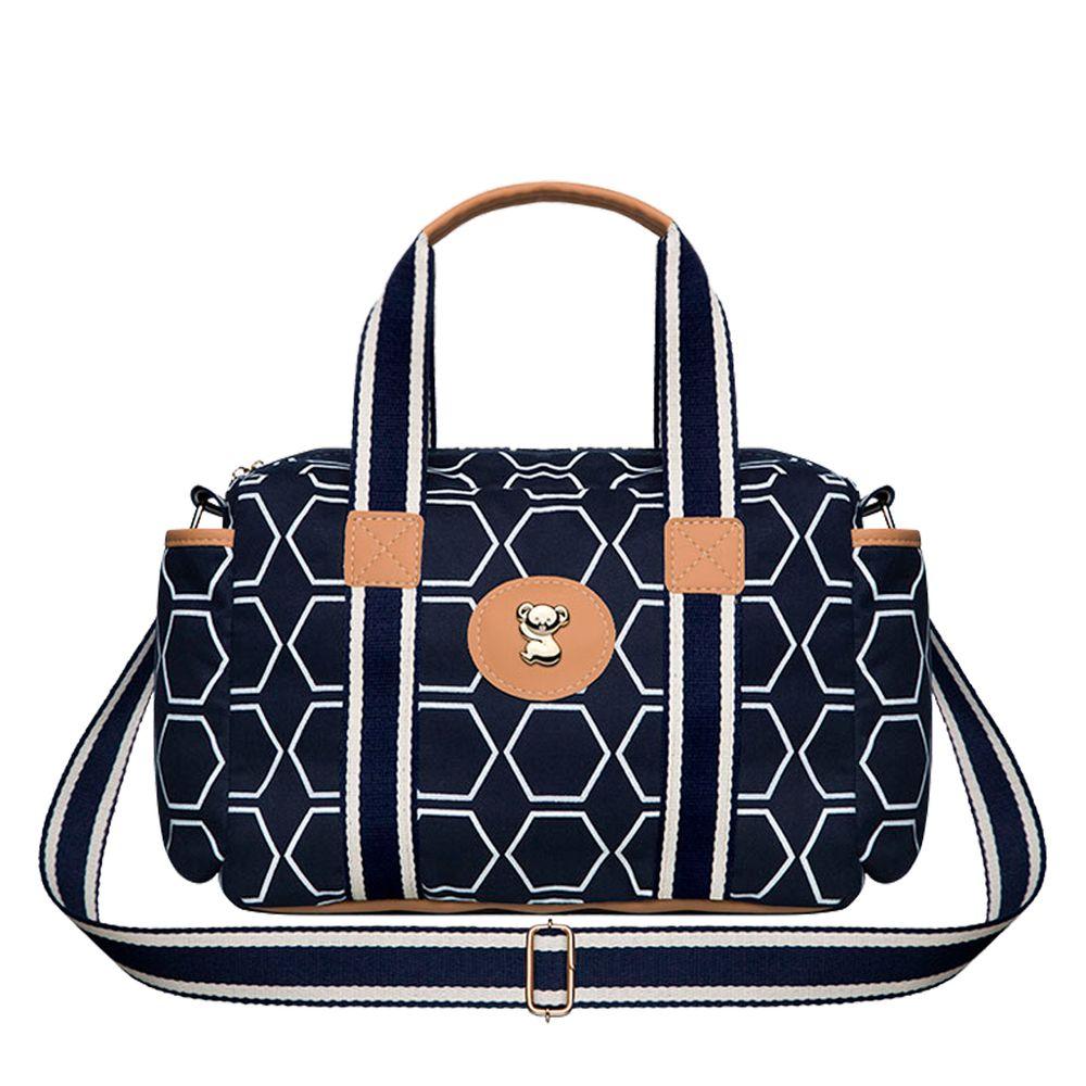 BGPS9043-A-Bolsa-Termica-para-bebe-Geometric-P-em-sarja-Marinho---Classic-for-Baby-Bags