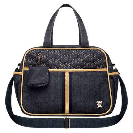BJSM9046-A-Bolsa-Maternidade-para-bebe-Sophia-M-Jeans-Dourado---Classic-for-Baby-Bags