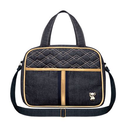 BJSP9046-A-Bolsa-Termica-para-bebe-Sophia-P-Jeans-New-Dourado---Classic-for-Baby-Bags