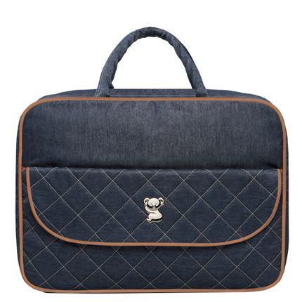 BBJ9091-A-Mala-Maternidade-para-bebe-Golden-Denim-Camurca---Classic-for-Baby-Bags