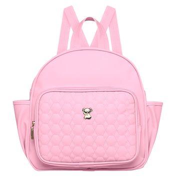 MNP9024-A-Mochila-Maternidade-Petit-Premium-Rosa---Classic-for-Baby-Bags