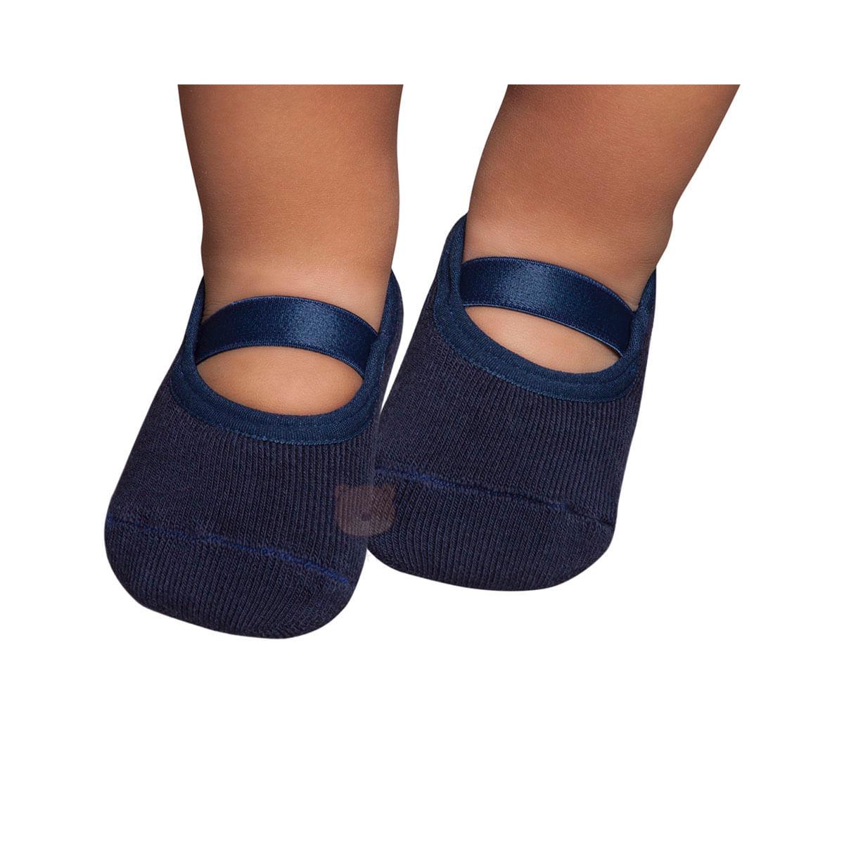 9dbf679646 Meia Sapatilha para bebe Azul Marinho - Puket no Bebefacil