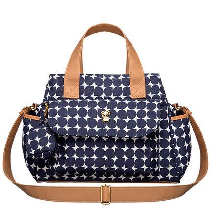 BNMO9043-A-Bolsa-Maternidade-para-bebe-Nina-M-Drops-Oxford-Marinho---Classic-for-Baby-Bags