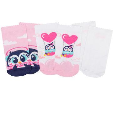 PK7063-PG_A-moda-bebe-menina-acessorios-kit-tripack-3-meias-pinguinzinha-puket-no-bebefacil-loja-de-roupas-enxoval-e-acessorios-para-bebes