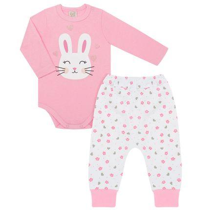 PL76041_A-moda-bebe-menina-conjunto-body-longo-calca-saruel-em-malha-coelhinha-floral-pingo-lele-no-bebefacil-loja-de-roupas-enxoval-e-acessorios-para-bebes
