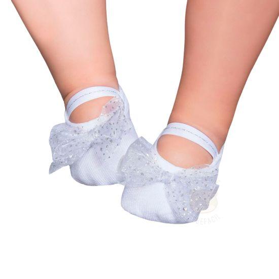 PK9033L-BR_A-moda-bebe-menina-acessorios-meia-sapatilha-laco-gliter-branca-puket-no-bebefacil-loja-de-roupas-enxoval-e-acessorios-para-bebes