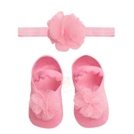 PK6934L-FR_A-moda-bebe-menina-kit-faixa-meia-sapatilha-flor-gliter-rosa-puket-no-bebefacil-loja-de-roupas-enxoval-e-acessorios-para-bebes