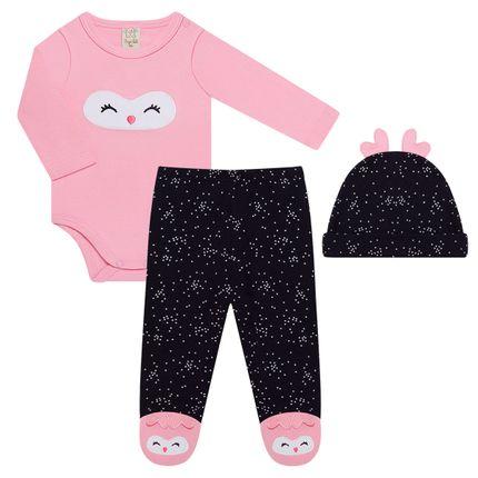 PL66205_A-moda-bebe-menina-conjunto-body-longo-calca-touca-pinguinzinha-pingo-lele-no-bebefacil-loja-de-roupas-enxoval-e-acessorios-para-bebes