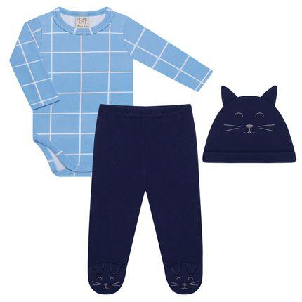 PL66236_A-moda-bebe-menino-conjunto-body-longo-calca-touca-gatinho-pingo-lele-no-bebefacil-loja-de-roupas-enxoval-e-acessorios-para-bebes