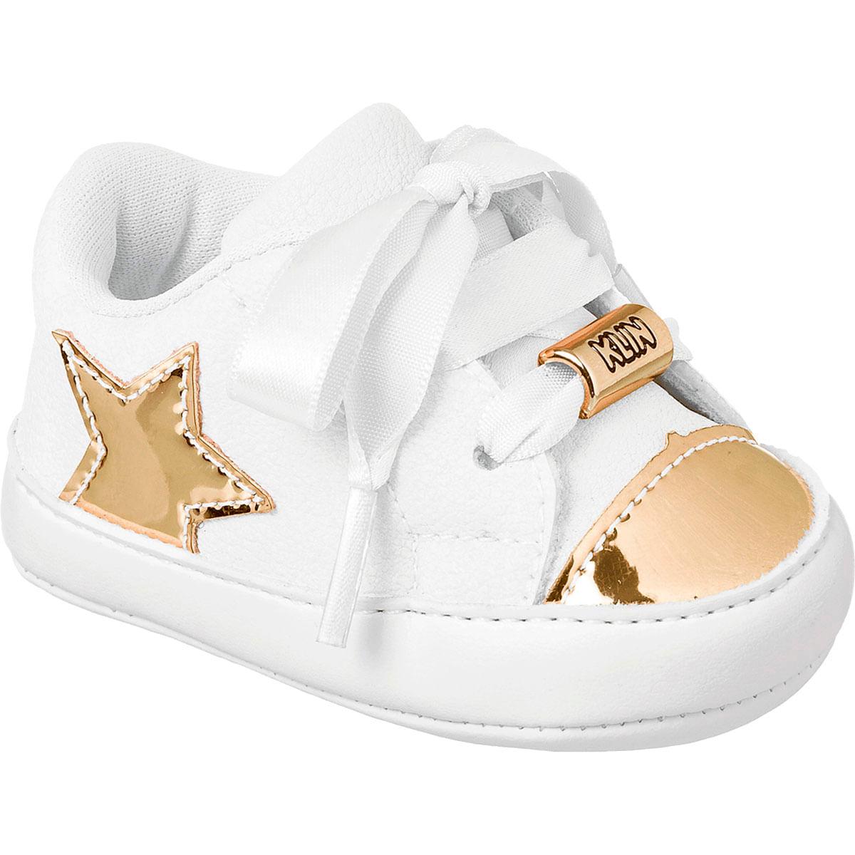 2e3129e8d9 Tênis para bebê Gold Stars - Klin no Bebefacil sua loja de calçados para  bebês - bebefacil