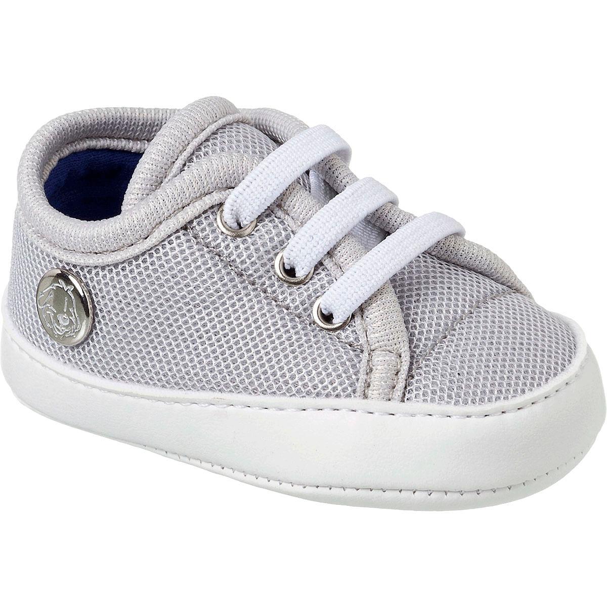 1318798682 Tênis para bebê Classic Cinza - Klin no Bebefacil sua loja de Sapatinhos  para bebês - bebefacil