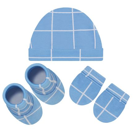 PL66243_A-moda-bebe-menino-acessorios-kit-touca-luva-sapatinho-suedine--quadriculado-pingo-lele-no-bebefacil-loja-de-roupas-enxoval-e-acessorios-para-bebes