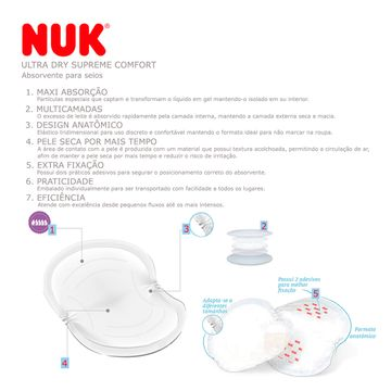 NK9009_E-saude-e-bem-estar-absorvete-para-seios-ultra-dry-supreme-comfort-nuk-no-bebefacil-loja-de-roupas-enxoval-e-acessorios-para-bebes