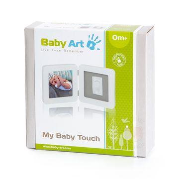 34120050-C-Porta-retrato-com-molde-My-Baby-Touch-White---Grey---Baby-Art