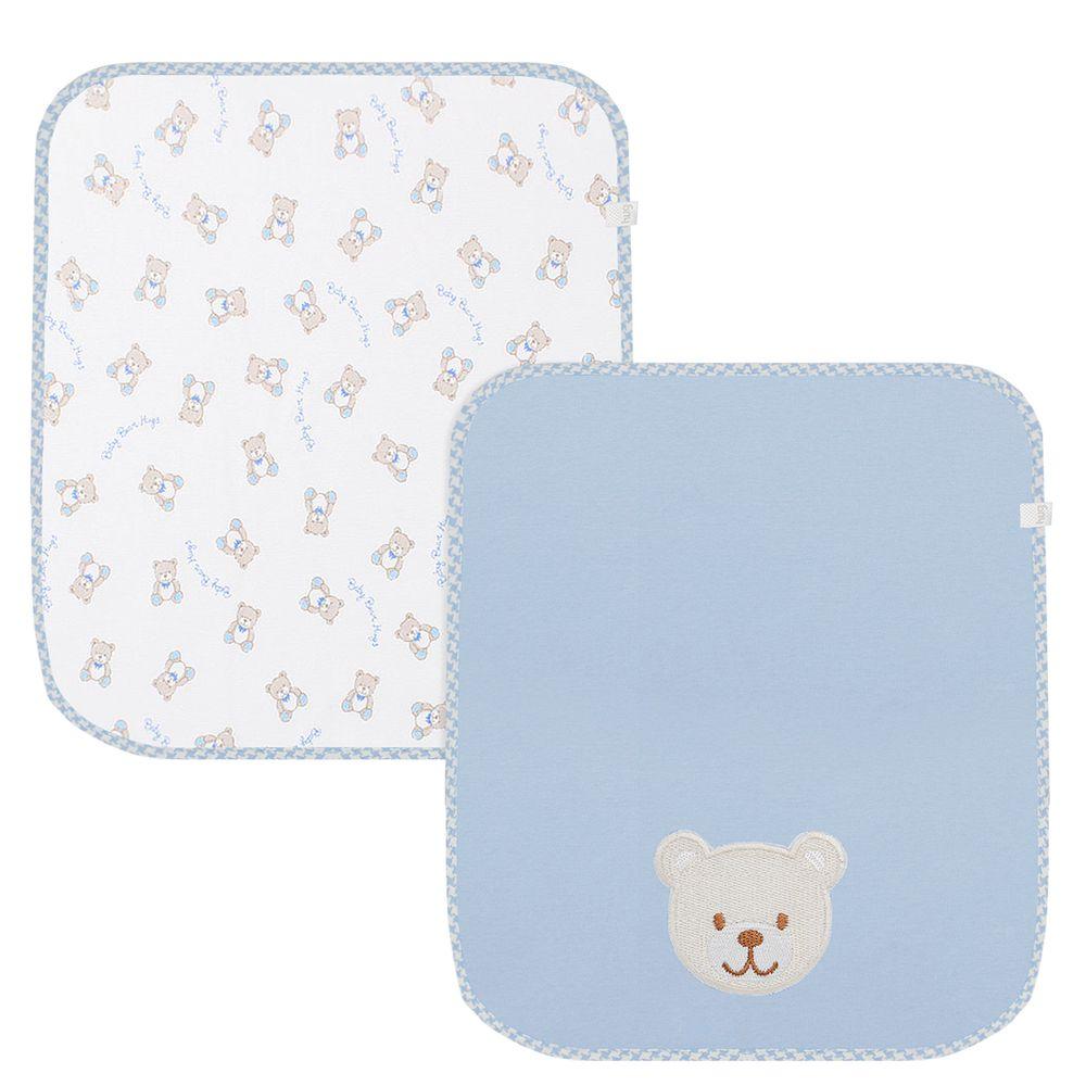 E10601A-A-Kit-com-2-fraldinhas-de-boca-para-bebe-em-suedine-Baby-Bear-Boys---Hug