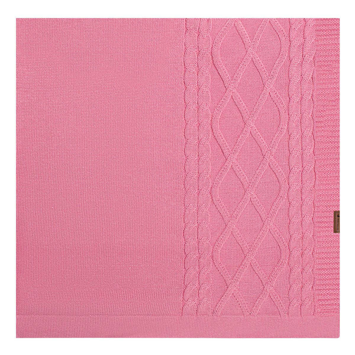 796fdc0b3 Manta para bebê em tricot tranças Rosa - Mini Sailor no Bebefacil, onde  você encontra tudo em roupas e enxoval para bebês - bebefacil