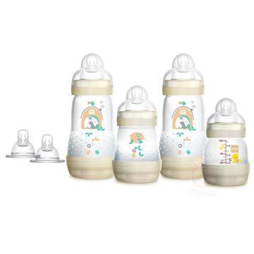 MAM4675-A-Kit-Mamadeiras-First-Bottle-c-bicos-Neutral-Ursinhos--0m-----MAM