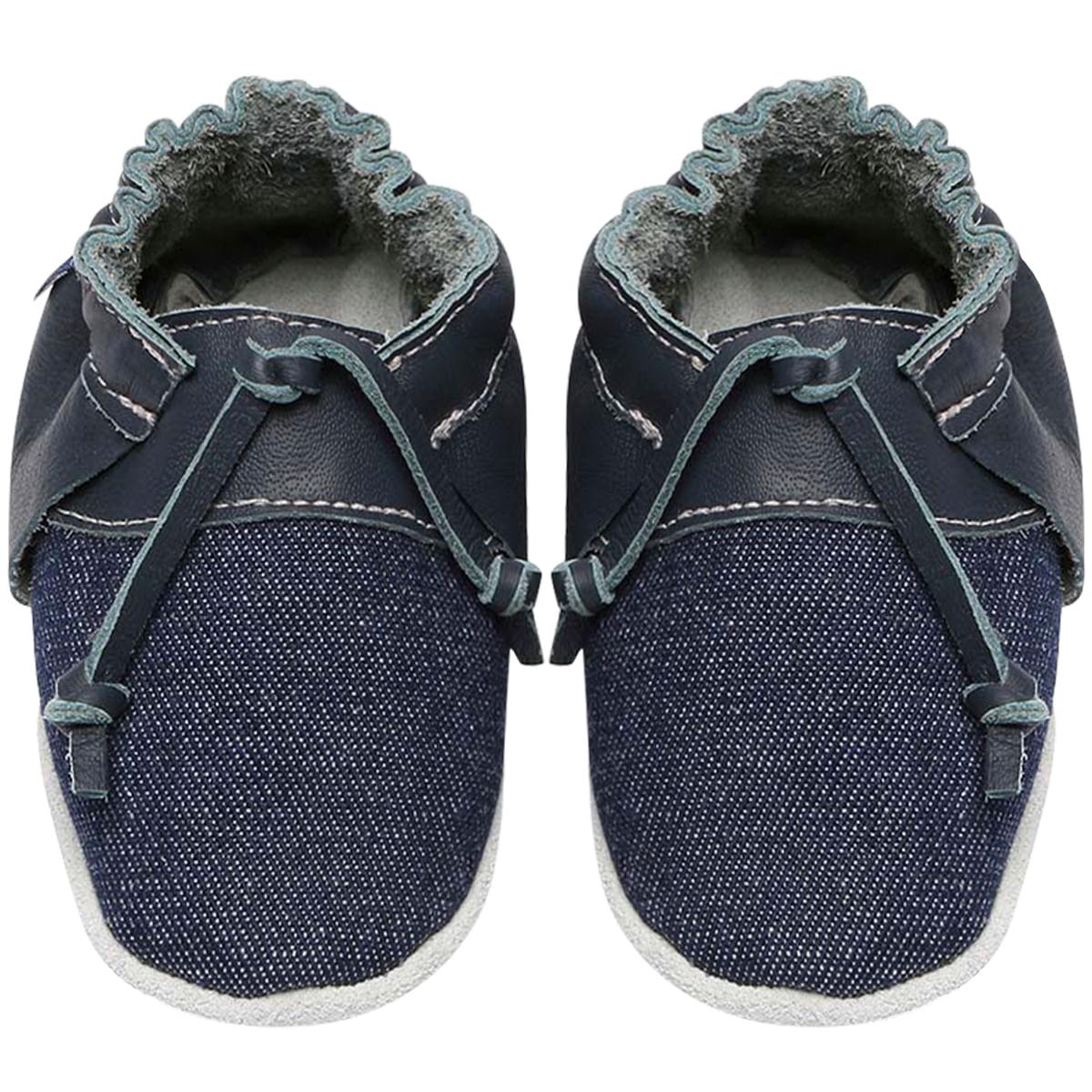 8c287efe5 Sapatinho para bebê Top Sider em couro Denim Marinho - Babo Uabu no  Bebefacil onde você encontra tudo em roupas e enxoval para bebês - bebefacil