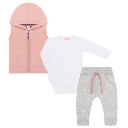 TMX0048-BR_A-moda-bebe-menina-conjunto-colete-capuz-body-longo-calca-saruel-em-moletom-rose-tmx-no-bebefacil-loja-de-roupas-enxoval-e-acessorios-para-bebes