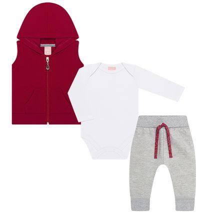 TMX0048-MC_A-moda-bebe-menina-conjunto-colete-capuz-body-longo-calca-saruel-em-moletom-vermelho-tmx-no-bebefacil-loja-de-roupas-enxoval-e-acessorios-para-bebes