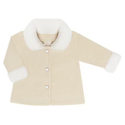 TK5949.CR_A-moda-menina-casaco-em-plush-canelado-pelucia-cream-time-kids-no-bebefacil-loaj-de-roupas-enxoval-e-acessorios-para-bebes