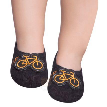 PK6917D-BK_A-moda-bebe-menino-acessorios-meia-sapatinho-bike-puket-no-bebefacil-loja-de-roupas-enxoval-e-acessorios-para-bebes